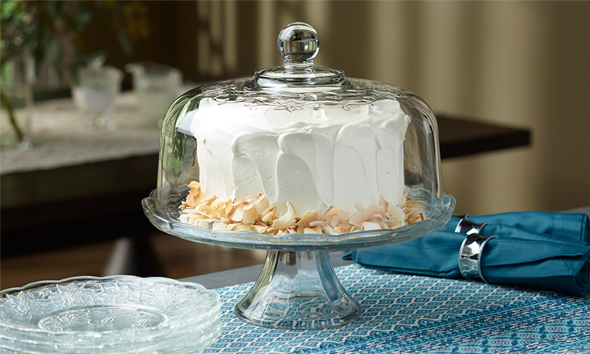 & Domed Cake Plate/Punch Bowl Set - Fantasia®